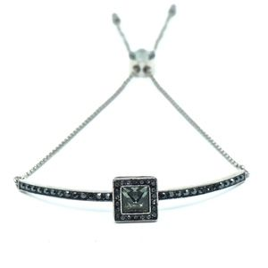 SWAROVSKI~gently square~BOLO BANGLE BRACELET